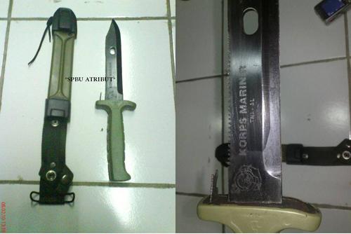 pisau marinir hijau