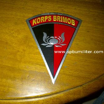 stiker aluminium brimob