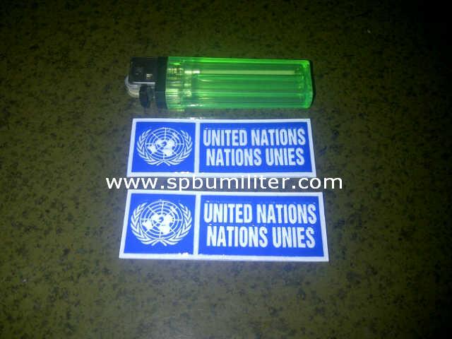 stiker nopol pasukan perdamaian