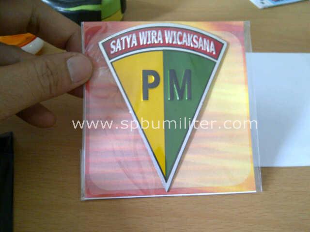 stiker pm aluminium