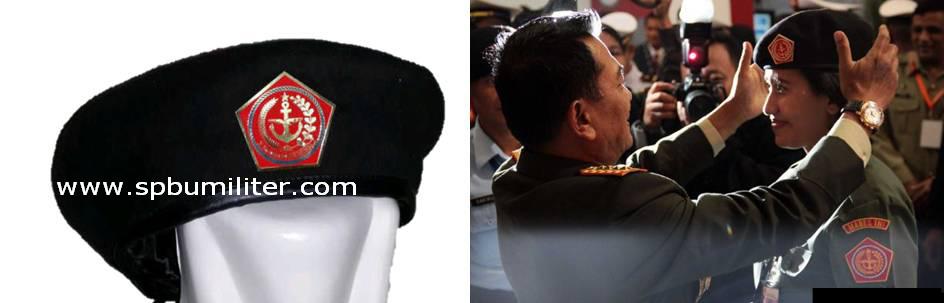 baret hitam mabes tni