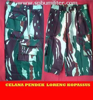 celana Pendek loreng kopassus