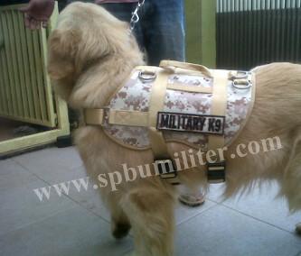jaket harness anjing military loreng k9