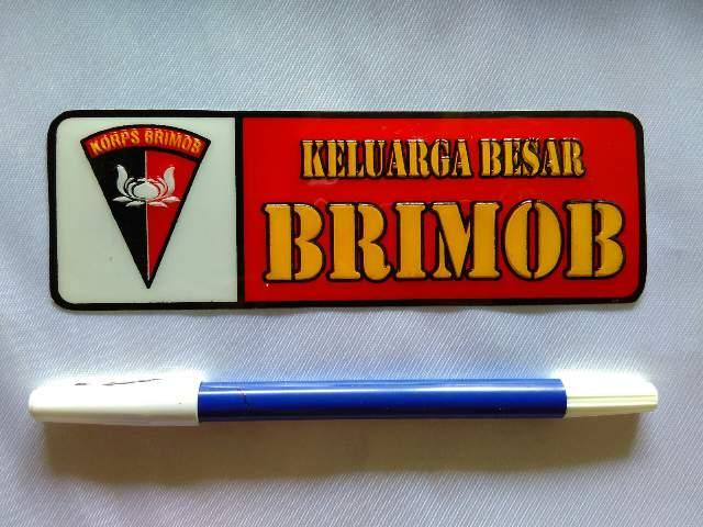 stiker keluarga besar brimob